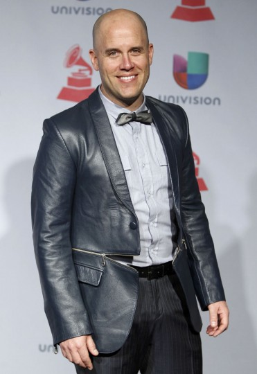 Gian Marco poses backstage during the 14th Latin Grammy Awards in Las Vegas. (REUTERS/Steve Marcus)