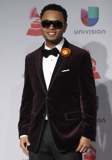 Toby Love poses backstage during the 14th Latin Grammy Awards in Las Vegas. (REUTERS/Steve Marcus)