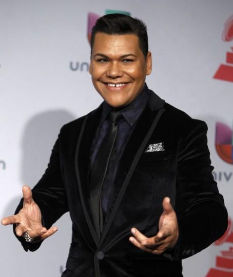 El Nino Prodigio poses backstage during the 14th Latin Grammy Awards in Las Vegas. (REUTERS/Steve Marcus)