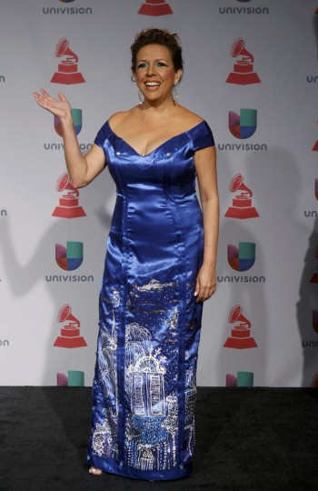 Albita poses backstage during the 14th Latin Grammy Awards in Las Vegas. (REUTERS/Steve Marcus)