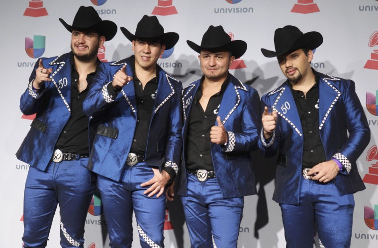 Calibre 50 pose backstage during the 14th Latin Grammy Awards in Las Vegas. (REUTERS/Steve Marcus)