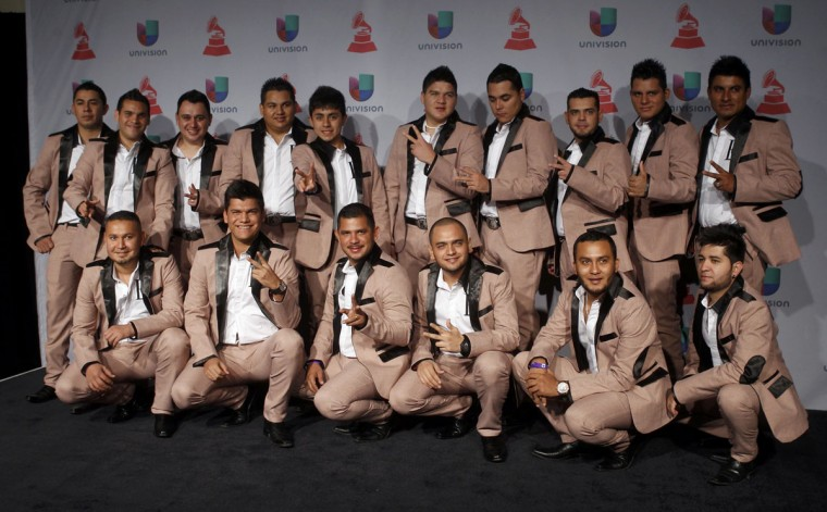 Banda Carnaval poses backstage during the 14th Latin Grammy Awards in Las Vegas. (REUTERS/Steve Marcus)