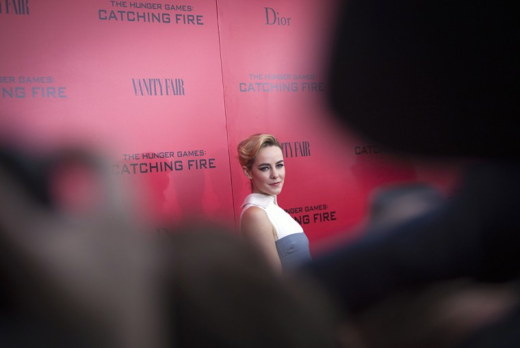 "Cast member Jena Malone attends the premiere of the film ""The Hunger Games: Catching Fire"" in New York. (Carlo Allegri/Reuters photo)"