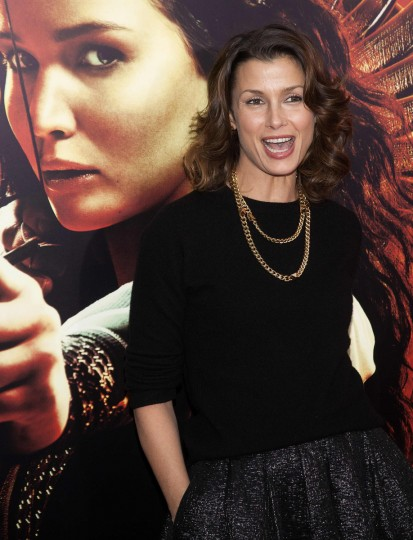 "Actress Bridget Moynahan attends the premiere of the film ""The Hunger Games: Catching Fire"" in New York. (Carlo Allegri/Reuters photo)"