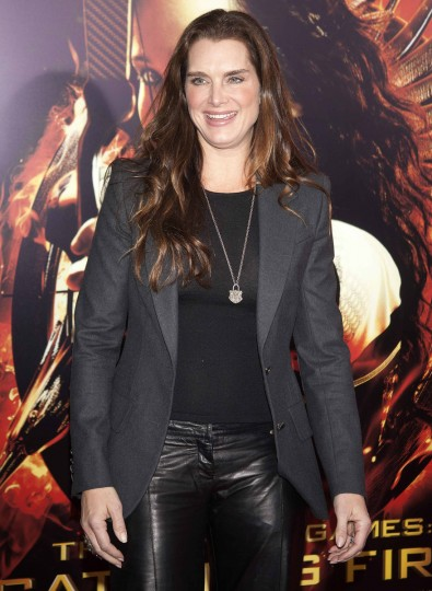 "Actress Brooke Shields attends the premiere of the film ""The Hunger Games: Catching Fire"" in New York. (Carlo Allegri/Reuters photo)"