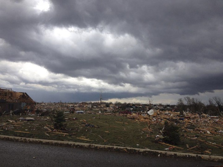 Tornado damage in Washington, Ill., can be seen in this handout picture courtesy of Alexandra Sutter/WMBD.com. (Reuters)