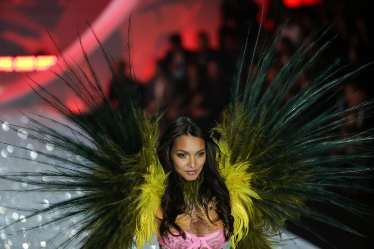 A model presents a creation during the annual Victoria's Secret Fashion Show in New York, November 13, 2013. (Lucas Jackson/Reuters)