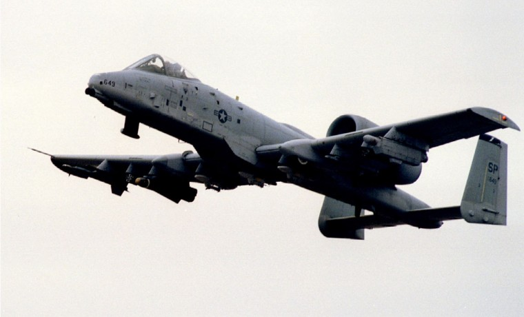 "U.S. A-10 Warthog take off from NATO airbase of Aviano for NATO ""Deny Flight"" operation in Bosnia. (Reuters photo)"