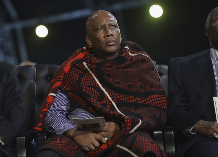Letsie III of Lesotho attends the funeral ceremony of former South African President Nelson Mandela in Qunu December 15, 2013. (Odd Andersen/Reuters)