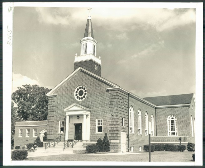 The Northwood-Appold Methodist Church on Sept. 16, 1955. (Baltimore Sun File)