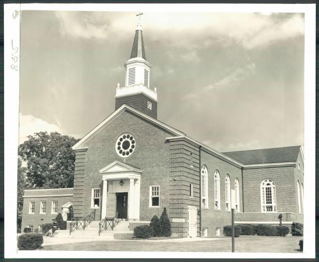 The Northwood-Appold Methodist Church on Sept. 16, 1955. (Baltimore Sun File)