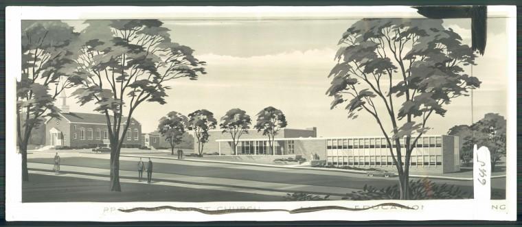 The Northwood-Appold Methodist Church on March 1, 1959. (Baltimore Sun File)