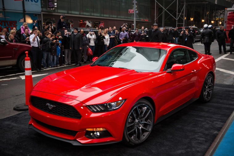 The new 2015 Ford Mustang is revealed on the set of Good Morning America on December 5, 2013 in New York City. (Andrew Burton/Getty Images)