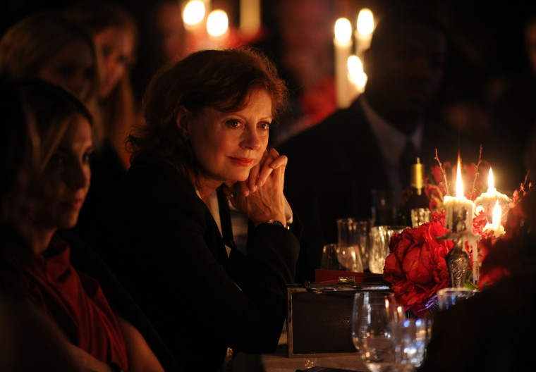 Actress Susan Sarandon attends Artists for Peace and Justice NYC Holiday Benefit presented by Bovet 1822 in New York City. (Bryan Bedder/Getty Images)