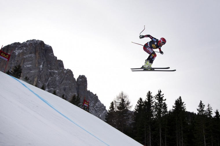 Bode Miller of the USA competes during the FIS Alpine World Cup Men's Downhill training in Val Gardena. (Oliver Morin/Getty Images)