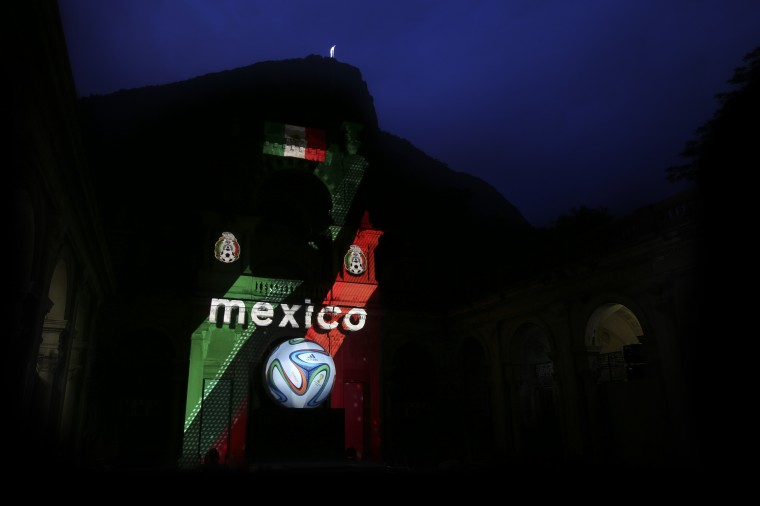 The Mexican Federation is shown during the adidas Brazuca launch at Parque Lage in Rio de Janeiro, Brazil. (Photo by Friedemann Vogel/Getty Images for adidas)