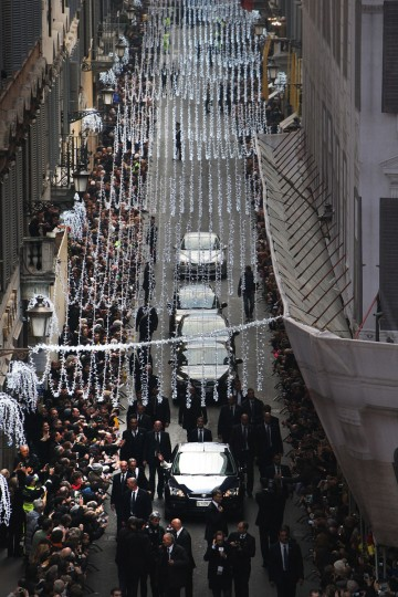 Pope Francis arrives at the Spanish Steps for the celebration of the Immaculate Conception on December 8, 2013 in Rome, Italy. Following a tradition laid out by his predecessors, Pope Francis celebrated the Feast of the Immaculate Conception by travelling to Spanish Steps where he venerated the statue named for the Marian Feast. The statue of the Immaculate Conception was consecrated on December 8, 1857 several years after the dogma which states that Mary was conceived without the stain of original sin was adopted by the Church. (Franco Origlia/Getty Images)