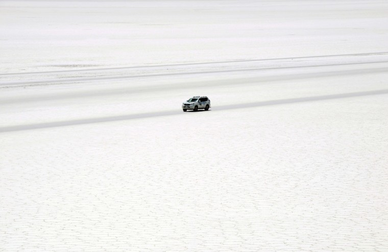 General view of the Salar del Uyuni, southern Bolivia, on September 28, 2013. The Dakar Rally 2014, which kicks off on January 5 in Rosario, Argentina, will include Bolivia for the first time. (Aizar Raldes Nunez / AFP/Getty Images)