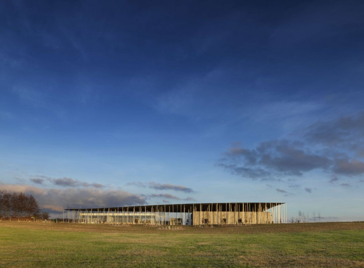A handout picture released by English Heritage on December 11, 2013 and taken on December 13, 2013 shows the exterior of the new visitors centre for the prehistoric site of Stonehenge. Stonehenge's new visitor centre opens on December 18 in time for the winter solstice, hoping to provide an improved experience for the million tourists that flock annually to Britain's most famous prehistoric monument. (James O. Davies/AFP/Getty Images)