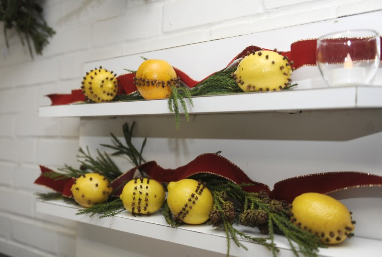 "This is a detail of Pomander Balls, which are part of the kitchen decorations by the St. George's Garden Club, for the ""Christmas Through the Ages"" tour at the Manor House at Ladew Gardens. (Barbara Haddock Taylor/Baltimore Sun)"