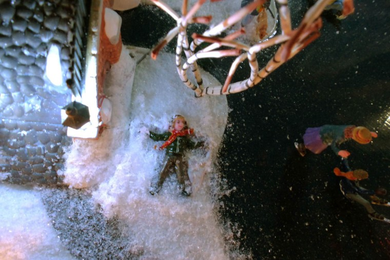 A person makes a snow angel at Beaverton. (Karl Merton Ferron/Baltimore Sun Staff)