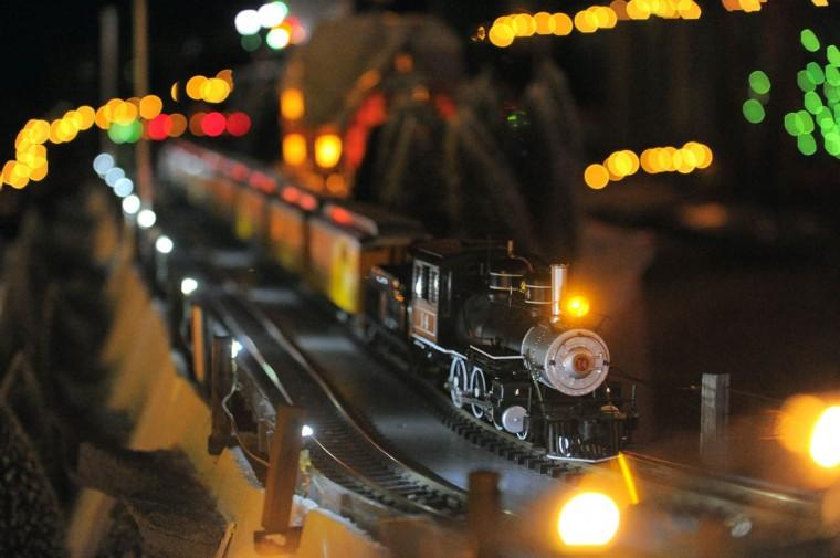 A steam engine carries passengers through the night. (Karl Merton Ferron/Baltimore Sun Staff)