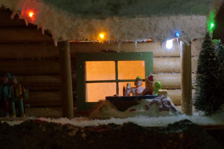 People sit on a porch at the holiday resort of Beaverton Cliffs. (Karl Merton Ferron/Baltimore Sun Staff)