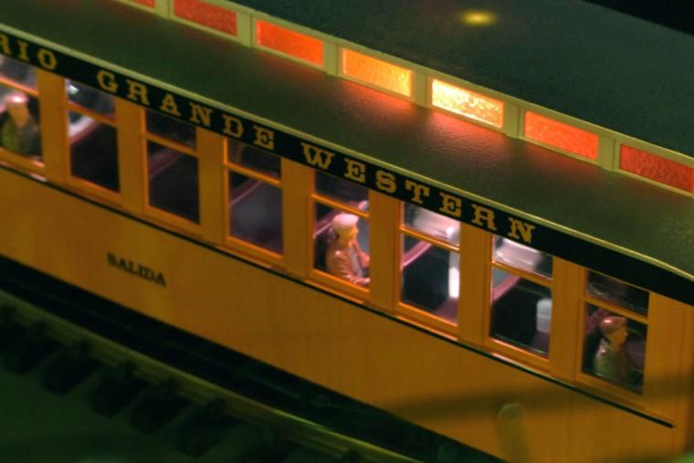 A passenger rides the train to the holiday resort. (Karl Merton Ferron/Baltimore Sun Staff)