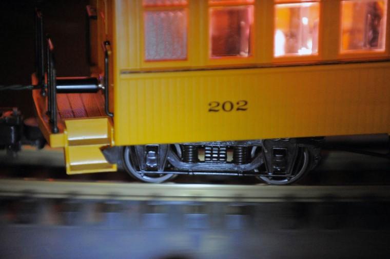 A train rolls on the track. (Karl Merton Ferron/Baltimore Sun Staff)\