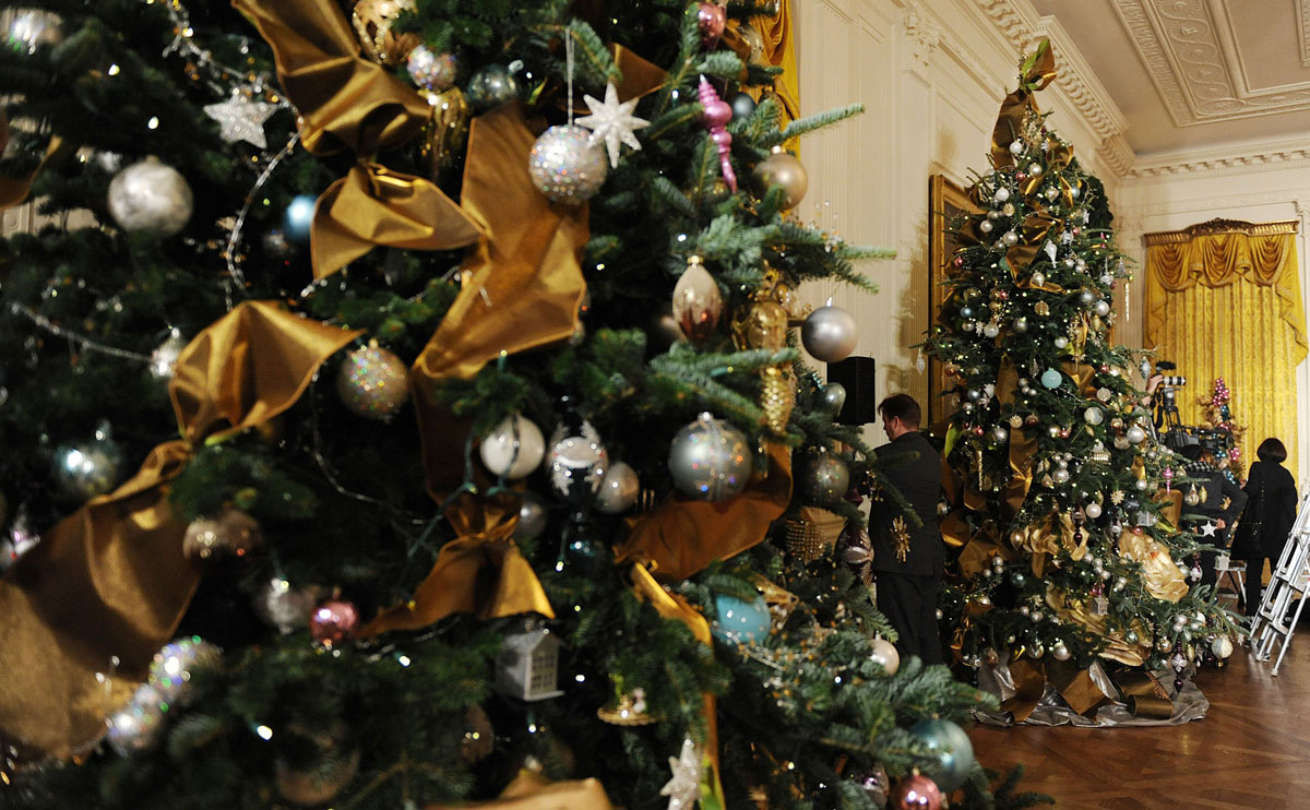 Holiday decorations at the white house are displayed during a press - Holiday Decorations At The White House Are Displayed During A Press 3