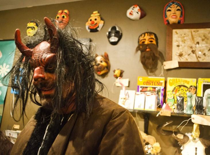 Krampus, inside of The Bazaar, on Friday, December 13th. (Noah Scialom)