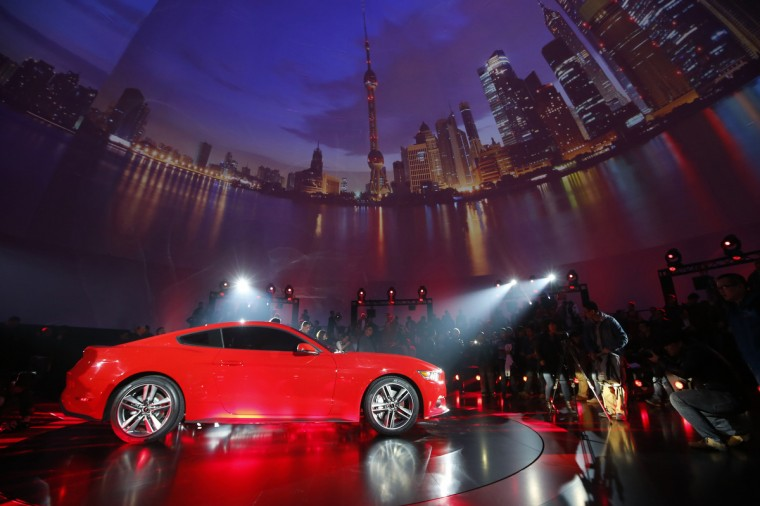 Ford Motor Co. unveils its 2015 Ford Mustang in Shanghai December 5, 2013. (Aly Song/Reuters photo)