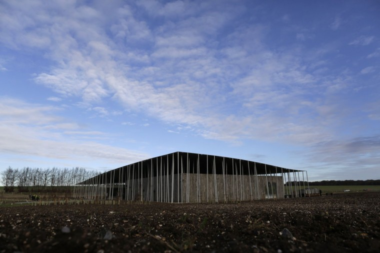 The new Stonehenge exhibition centre is seen at Stonehenge in Salisbury, southern England December 17, 2013. The new exhibition and visitor centre at the popular tourist destination will open to the public on Wednesday. (REUTERS/Kieran Doherty)