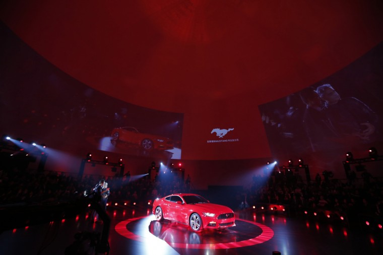 Ford Motor Co. unveils its all new 2015 Ford Mustang in Shanghai December 5, 2013. (Aly Song/Reuters photo)