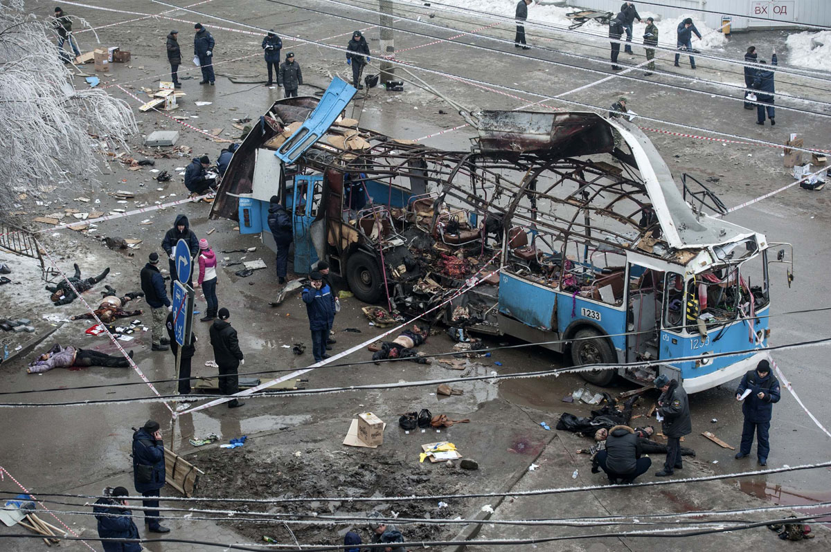 Two suicide bombers hit Russian city of Volgograd