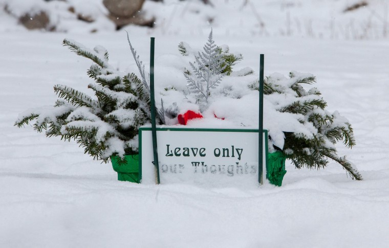 Part of a memorial for the victims of the Sandy Hook Elementary School shooting in Newtown, Connecticut December 14, 2013. Today marks the one year anniversary of the shooting rampage at Sandy Hook Elementary School, where 20 children and six adults were killed by gunman Adam Lanza. (REUTERS/Michelle McLoughlin)