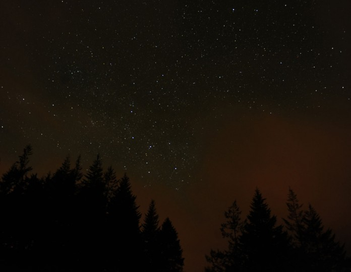 The sky at night seen at Killiecrankie Scotland during the Geminid meteor shower December 14, 2010. (Russell Cheyne/Reuters)