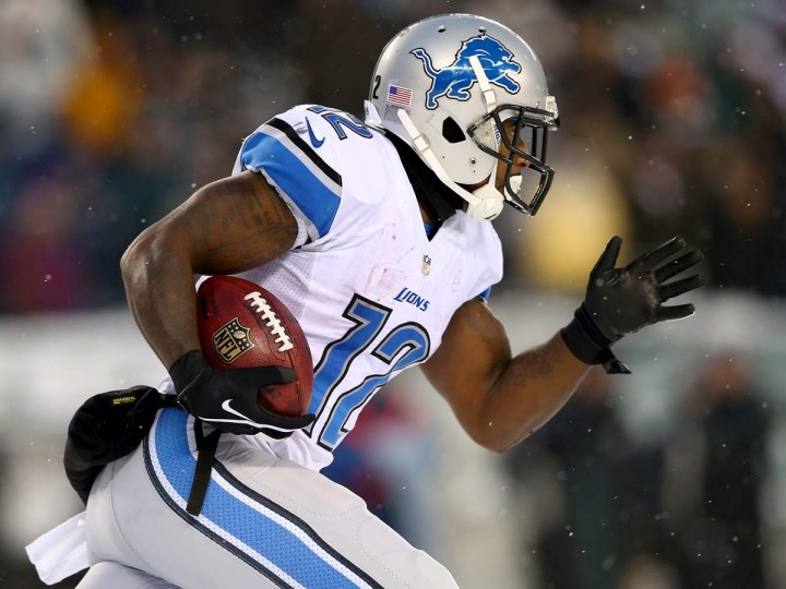 Jeremy Ross of the Detroit Lions returns a punt in the fourth quarter against the Philadelphia Eagles on December 8. The Ravens play the Lions this weekend.