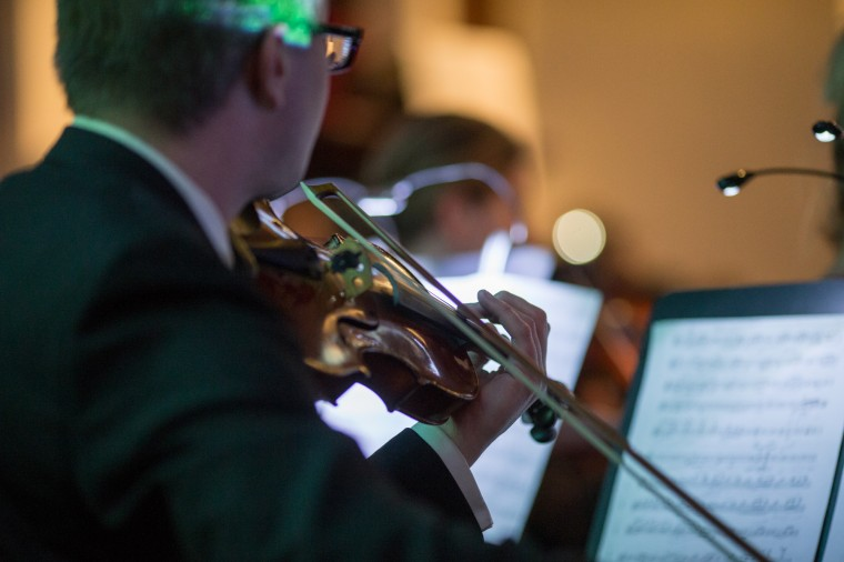 A violinist plays during the concert. (Nate Pesce/BSMG)