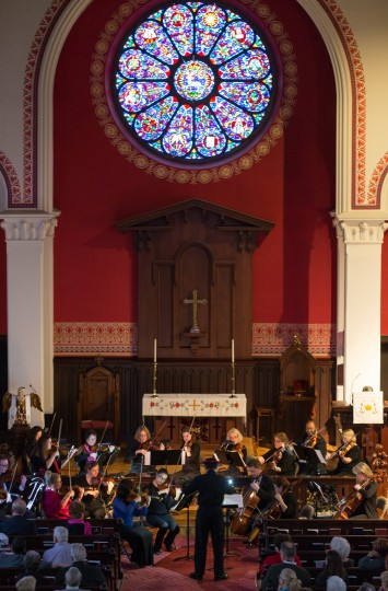 The Howard County Concert Orchestra performs in St. John's Episcopal Church. (Nate Pesce/BSMG)