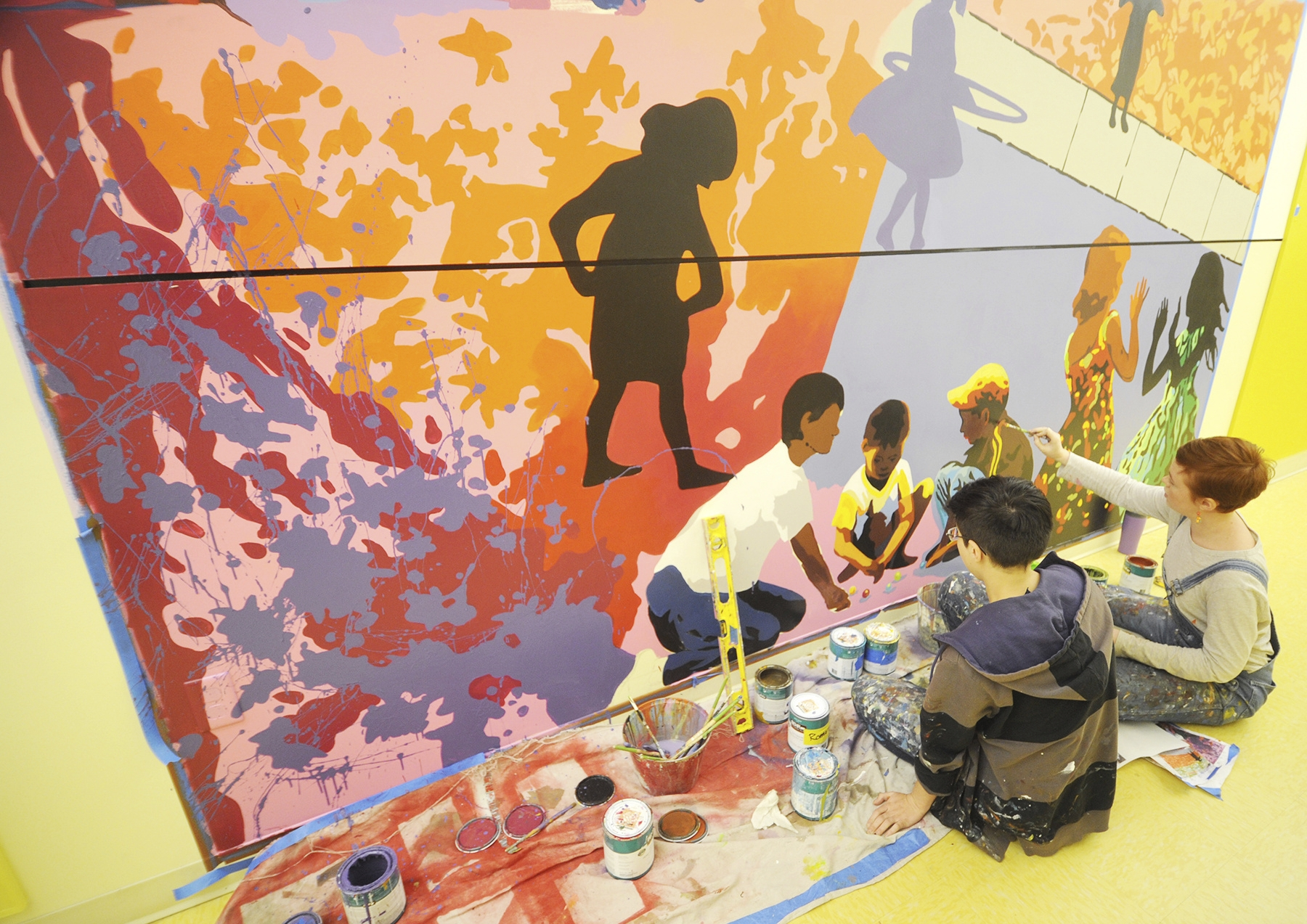 Monarch Academy getting myriad of murals from local artist