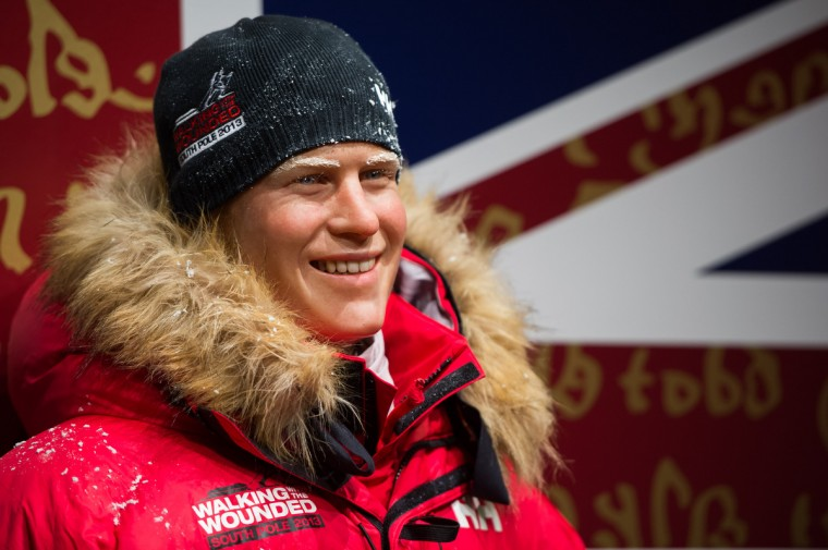 A waxwork figure of Prince Harry in arctic clothing is unveiled at Madame Tussauds on November 13, 2013 in London, England. Prince Harry will embark on the 'Walking With The Wounded South Pole Allied Challenge' this Sunday. (Ian Gavan/Getty Images)
