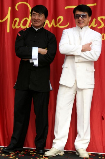 Actor Jackie Chan attends the unveiling of his wax figure held at Madame Tussauds in West Hollywood, on January 11, 2010. (Valerie Macon/Getty Images)