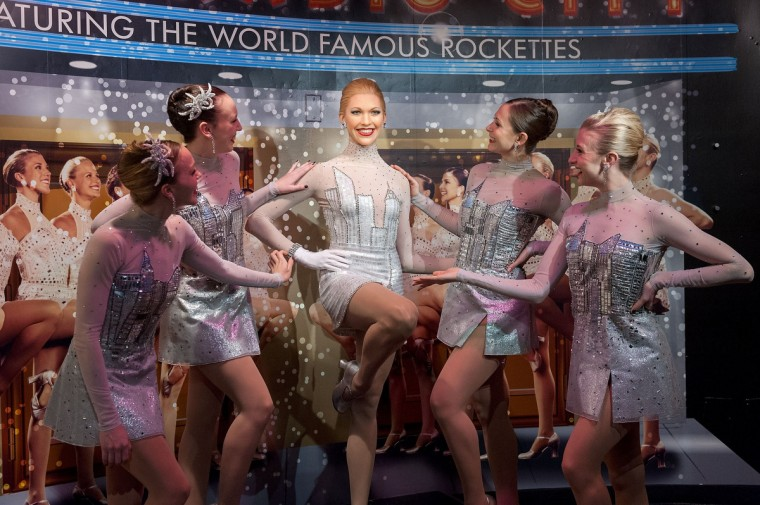 "A view of the unveiling of a new ensemble for a Rockette wax figure, as created on Lifetime's ""Project Runway"", at Madame Tussauds on November 21, 2013 in New York City. (D Dipasupil/Getty Images)"