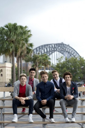 One Direction wax figures from Madame Tussauds are seen at Circular Quay on December 12, 2013 in Sydney, Australia. The figures will be on show until January 28th when they continue on a global tour to Tokyo, Japan. ( Darren Leigh Roberts/dlrphoto via Getty Images)