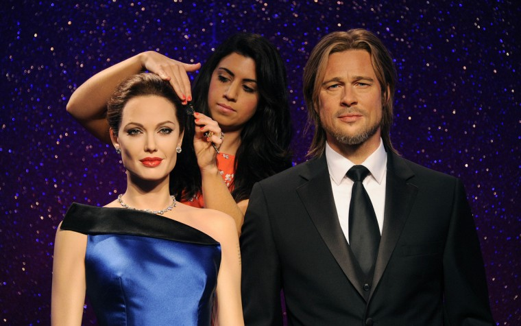 Madame Tussauds unveil new wax figures for Brad Pitt and Angelina Jolie ahead of Brad's 50th birthday on December 18th at Madame Tussauds on December 17, 2013 in London, England. (Stuart C. Wilson/Getty Images)