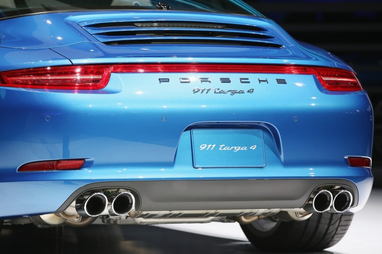 Porsche introduces the new 911 Targa at the North American International Auto Show in Detroit, Michigan. The auto show opens to the public January 18-26. (Scott Olson/Getty Images)
