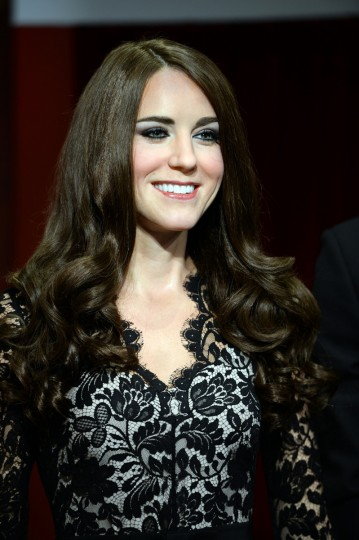 A wax figure of Catherine, the Duchess of Cambridge, is unveiled at Madame Tussauds Sydney on December 19, 2013. Madame Tussauds Sydney unveiled the Prince William and Princess Catherine wax figures for the first time as husband and wife in a Christmas-theme surrounding with Queen Elizabeth II. (Saeed Khan/Getty Images)