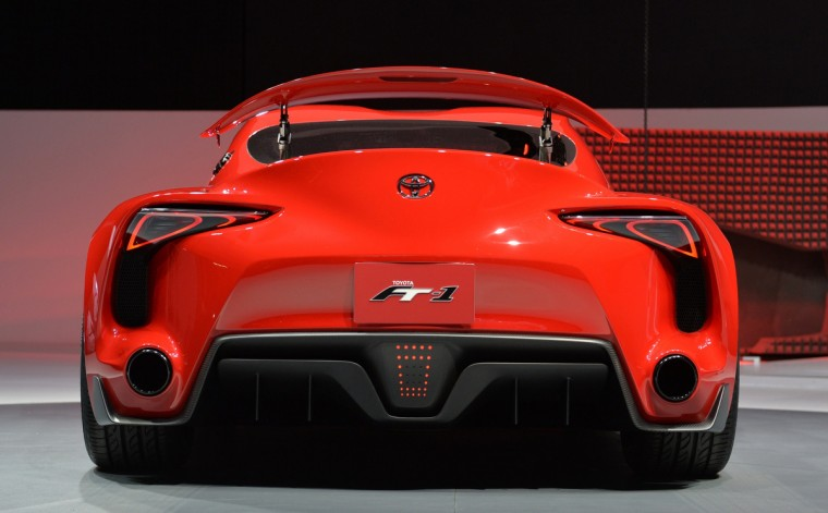 The Toyota FT-1 concept car during a press preview at the North American International Auto Show January 13, 2014 in Detroit, Michigan. (Stan Honda/Getty Images)