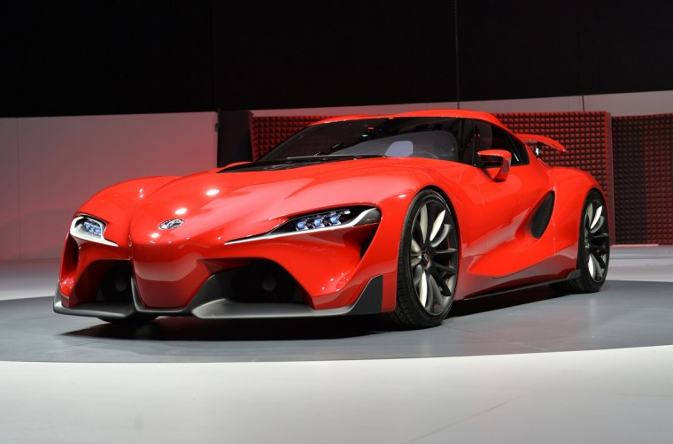 The Toyota FT-1 concept car during a press preview at the North American International Auto Show January 13, 2014 in Detroit, Michigan.(Stan Honda/Getty Images)